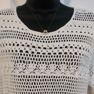 Appleseed's Tops - Appleseed's open weave pullover seater. Large.